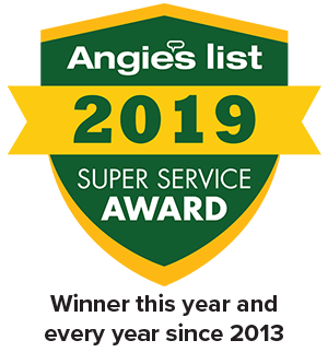 2010 Angie's List Super Service Award Winner Badge - Winner every year since 2013!
