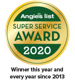 2020 Angie's List Super Service Award - Winner every year since 2013!